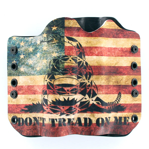 OWB Light Bearing Holster - Don't Tread Snake Flag