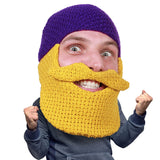 Beard Hat Beanie - Original Knit Beard Balaclava Toque Beard Head