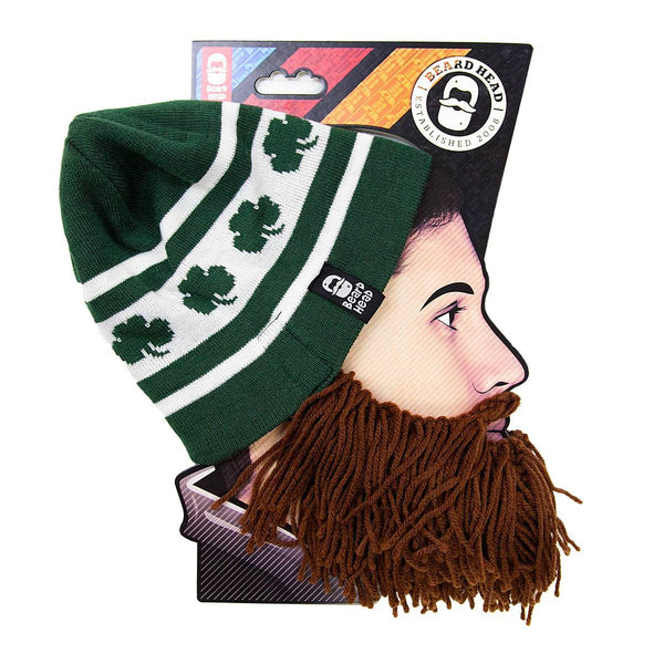 Beard Hat Beanie - Funny Knit Irish Beard Head