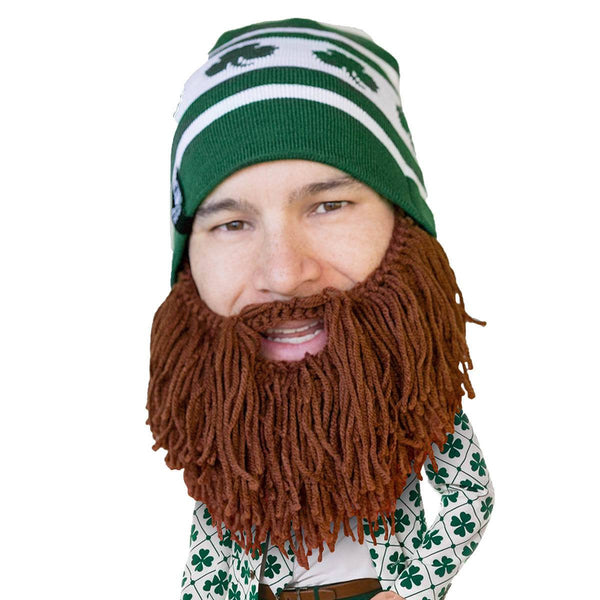St. Patrick s Day Knit Beard Hat - Shamrock Beard Head – Beard Head® e6645d72d95