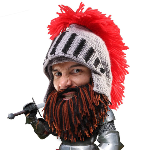 Beard Head - Awesome knit knight beard hat helmet