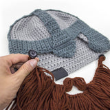 Beard Head - Awesome knit dwarf beard hat helmet
