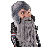 Beard Hat Beanie - Funny Dwarf Knit Beard Head
