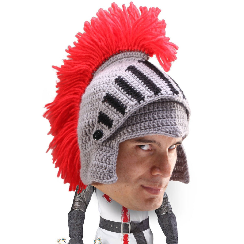 knit crochet knight helmet