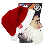 Santa Beard Hat Beanie - Funny Knit Christmas Beard Head