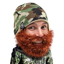 6b3ba5a7 Camo Beard Hat Beanie - Funny Knit Bushy Duke Beard Head