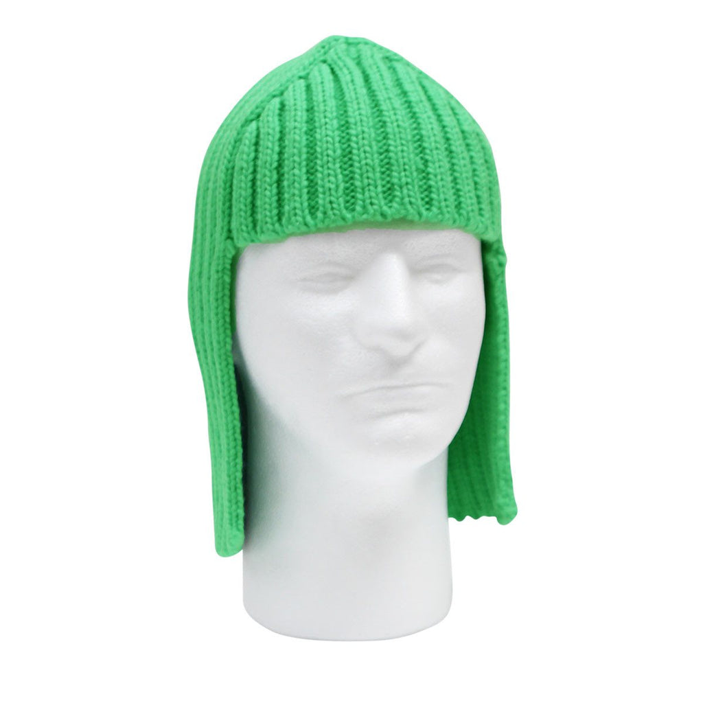 funny knit wig neon hair