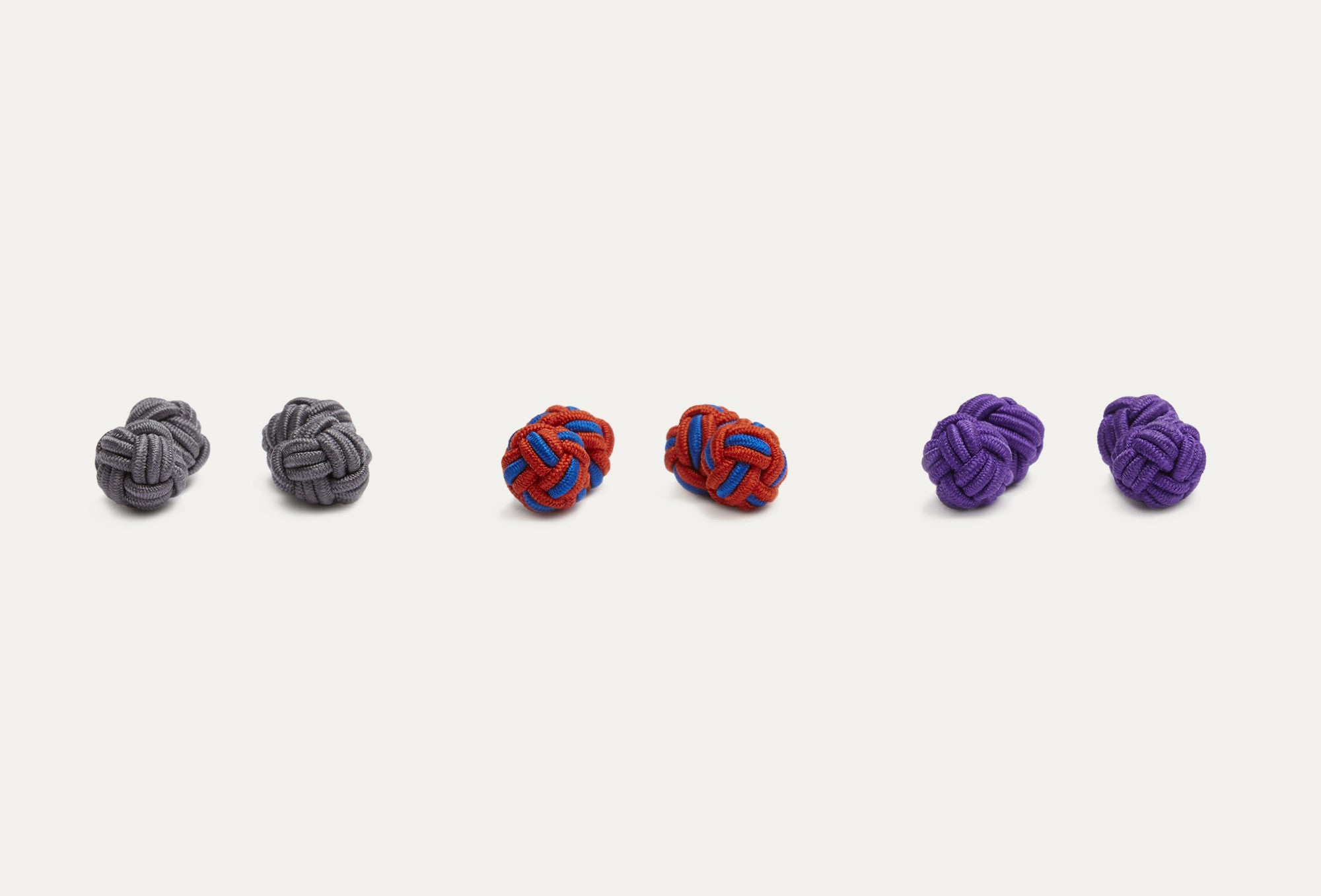 Glory 3-Pack Silk Knot Cufflinks