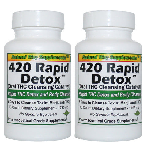 THC Detox -  420 Rapid Detox - Two Days to Cleanse THC Toxins - 2 Bottles