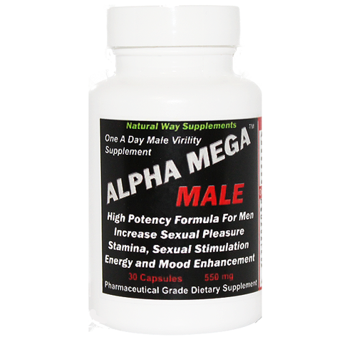 Virility Supplement for Men - Alpha Mega Male - 30 Capsules