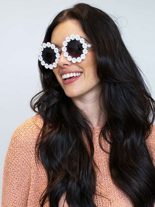 Daisy Decor Frame Sunglasses