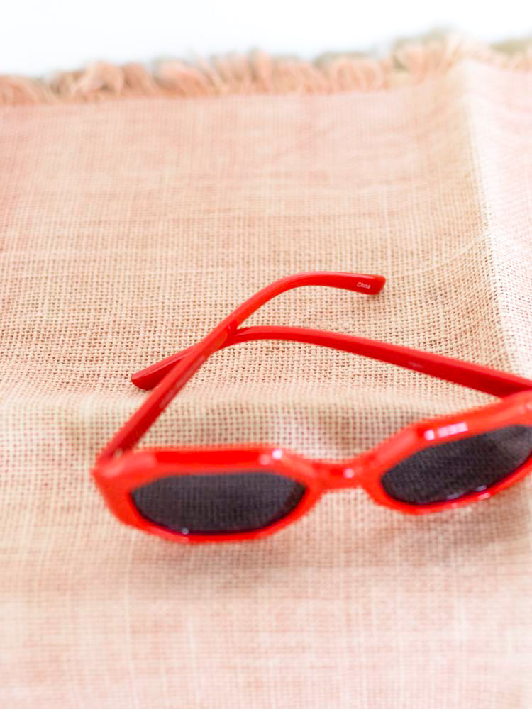 Red Octagon Sunglasses