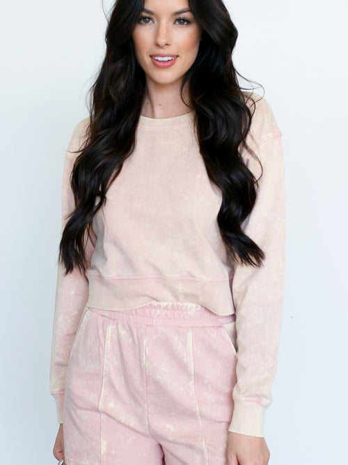 Acid Wash Blush Sweatshirt