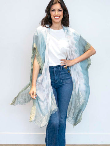 Pastel Watercolor Front Tie Top