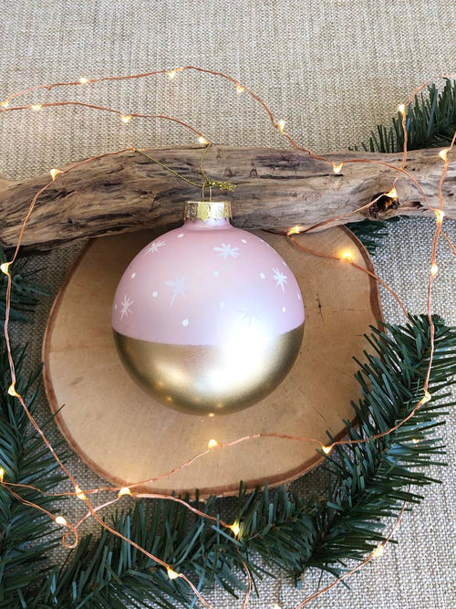 Pale Pink and Gold Stargaze Ornament
