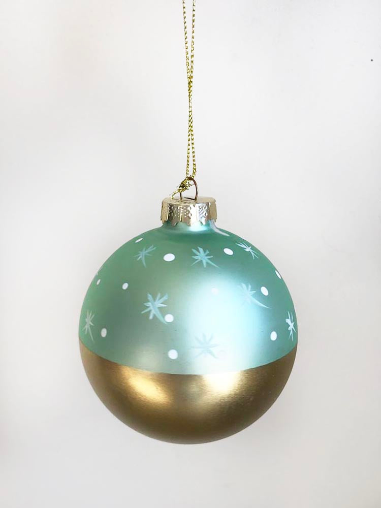 Mint Green and Gold Stargaze Ornament