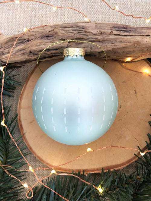 Metallic Mint Green Ticky Ornament