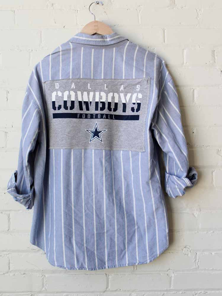 Dallas Cowboys Football Striped Flannel