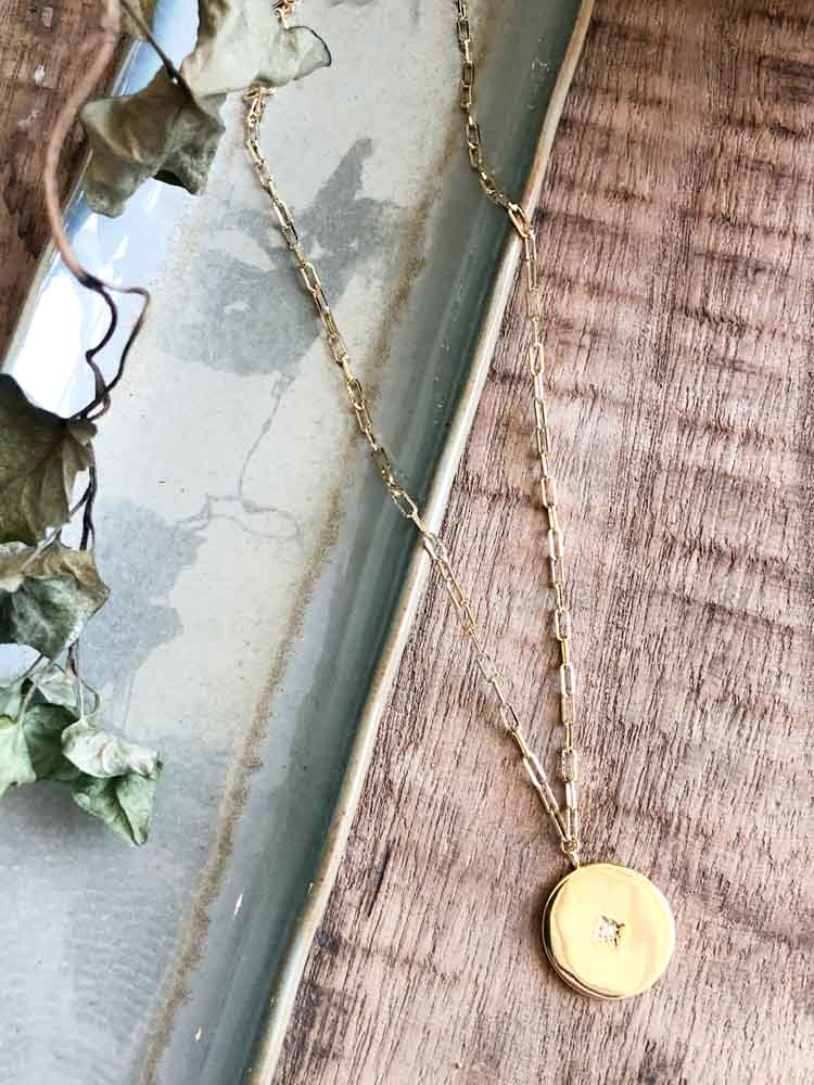 Chain Coin Pendant Necklace
