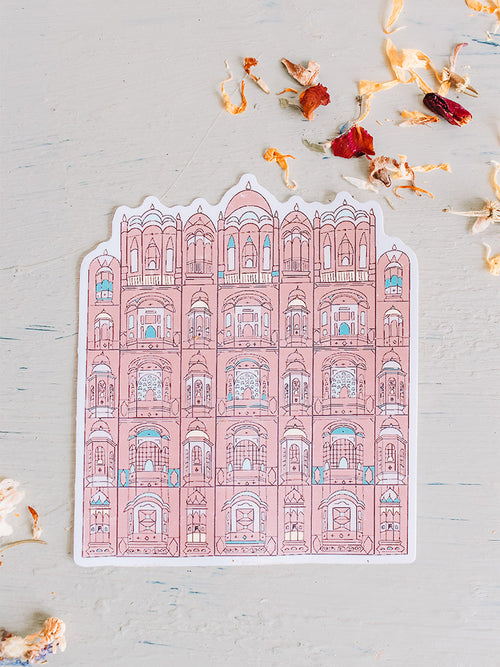 India Sticker - Pink City