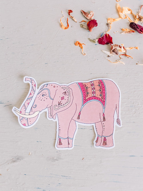 India Sticker - Elephant