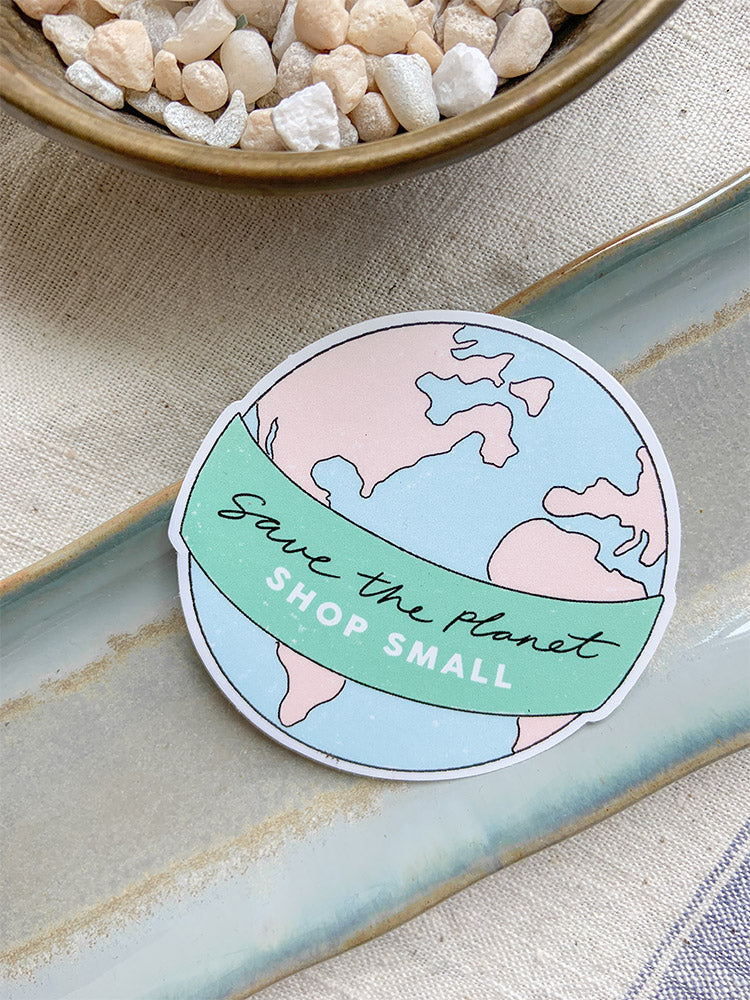 Save The Planet Shop Small Sticker