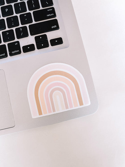 Flea Style Rainbow Vinyl Sticker