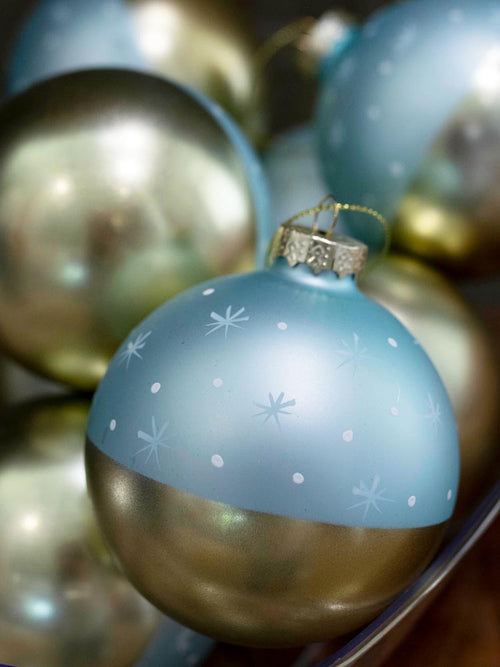 Pale Blue and Gold Stargaze Ornament
