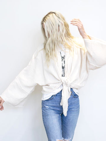Gold Ruffle High Neck Blouse