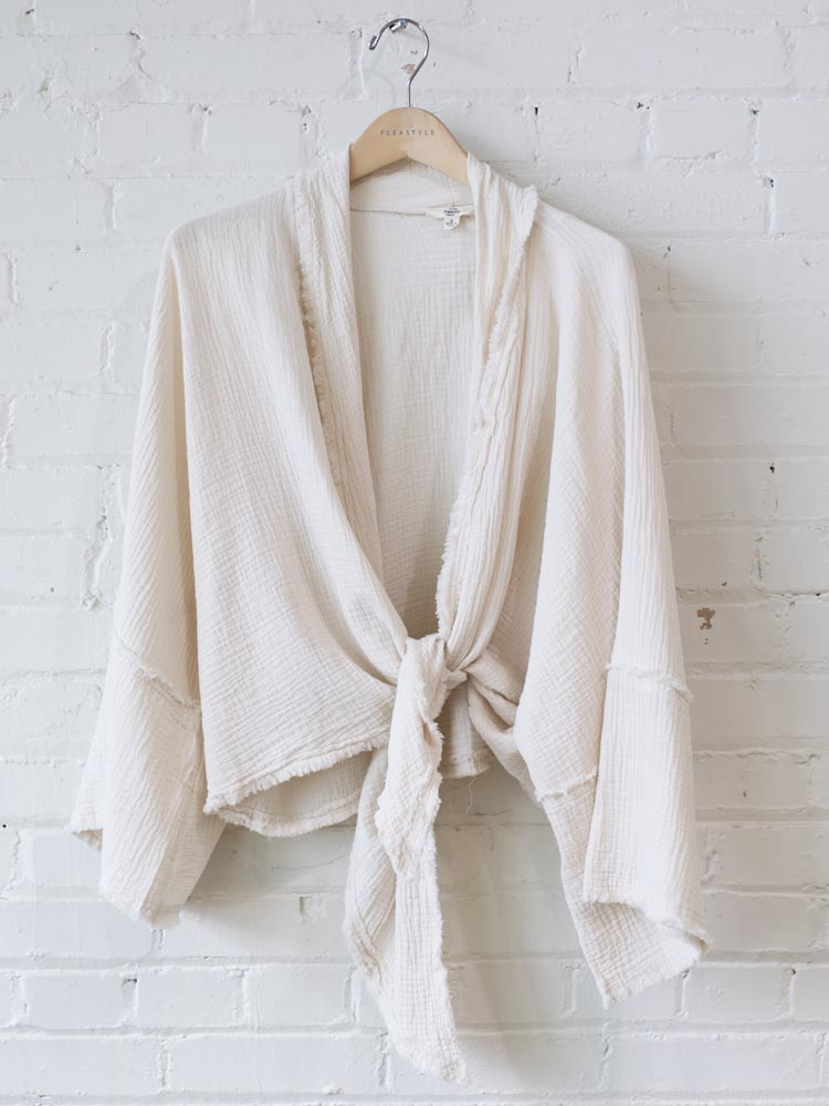 flowy beachy linen top