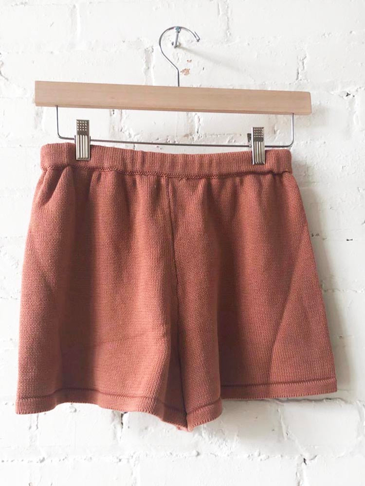 Cinnamon Light Weight Sweater Shorts