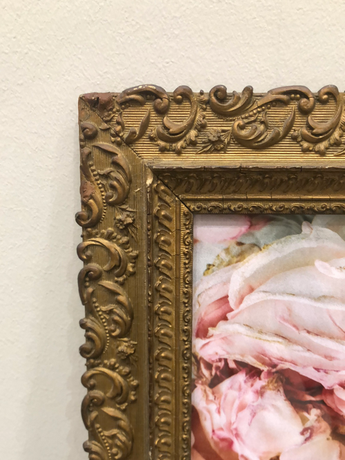 Gold Frame with Pink Floral