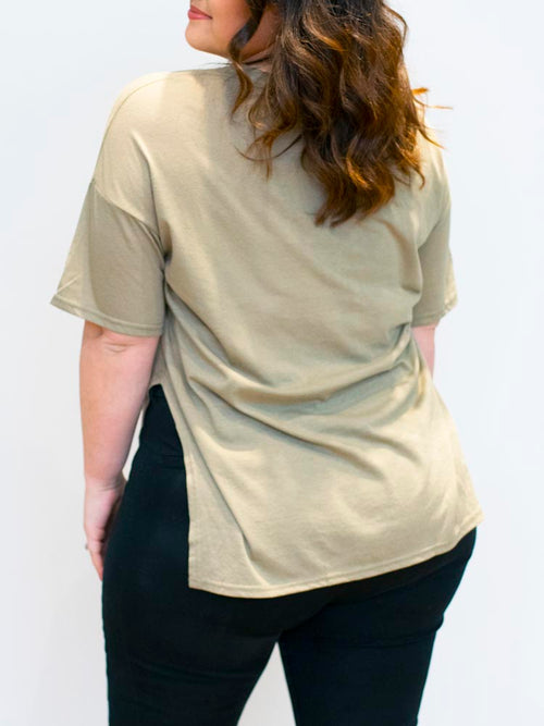 Olive Green Knotted Tee