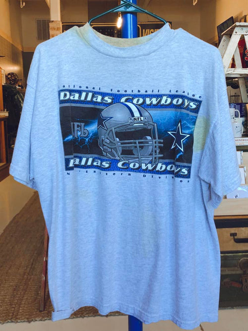 Grey and Blue NFL Cowboys Game  Day Tee