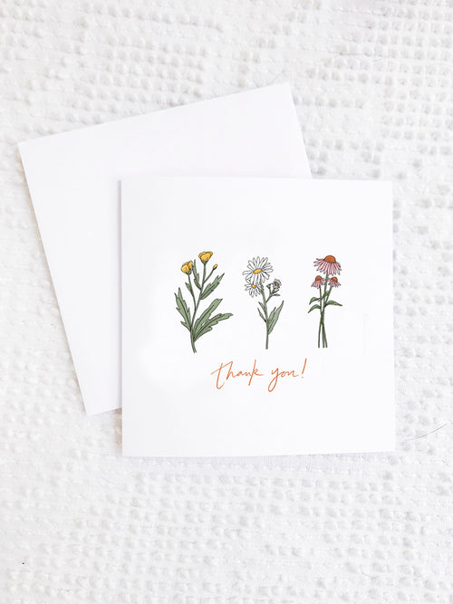 Thank You Wildflower Card