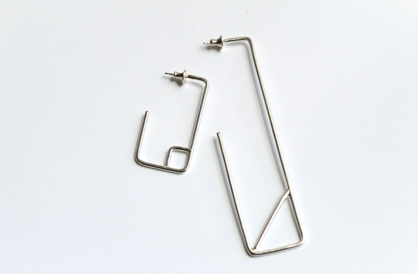 Asymmetrical Rectangle Earrings