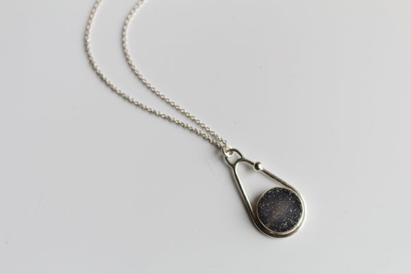 Miniature Druzy Quartz Necklace