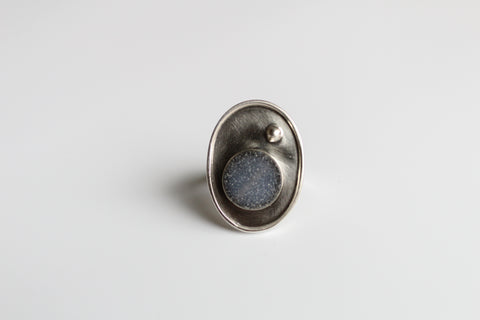 Miniature Druzy Quartz Ring