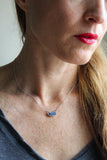 Lapis Druzy Necklace