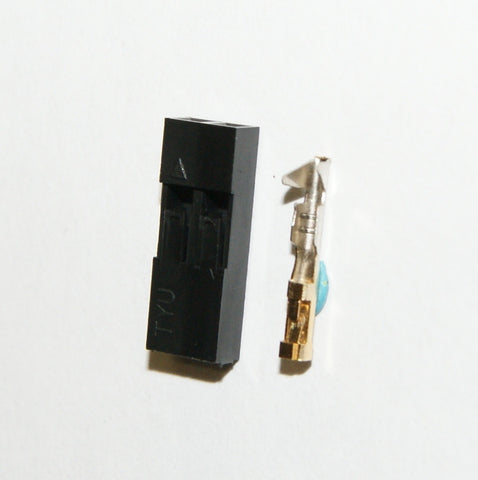 2.54mm 1x2 Connector & Housing Kit - 6 pack