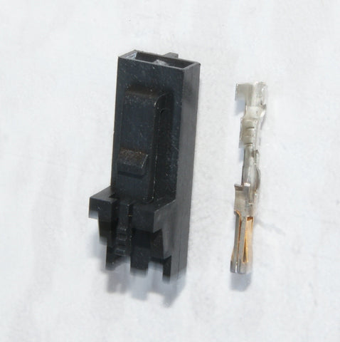 2.54mm 1x2 Connector & Positive Latch Housing Kit - 6 pack