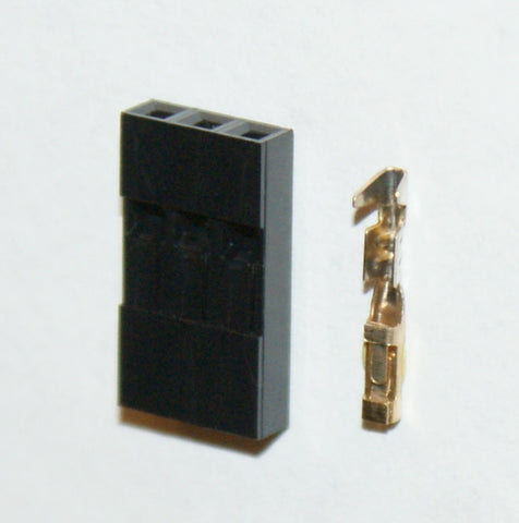 2.54mm 1x3 Connector & Housing Kit - 6 pack
