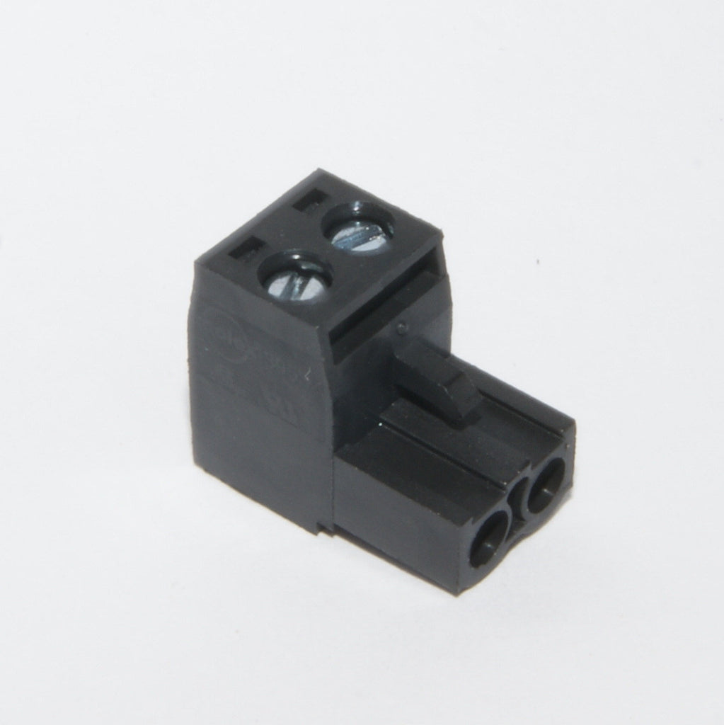 Pluggable Terminal Block, 2 contacts 5.08mm (black)