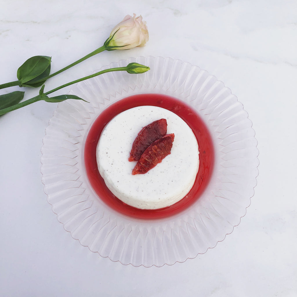 Björn's Honeyed Blood Orange Panna Cotta