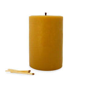One Pound Beeswax Candle