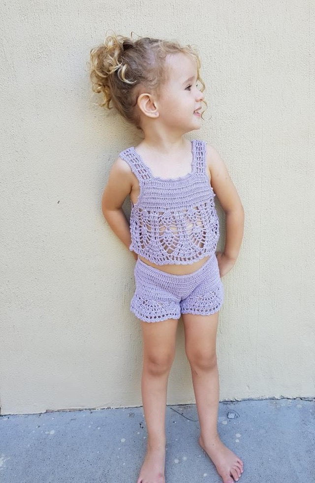 Crochet Girls Shorts