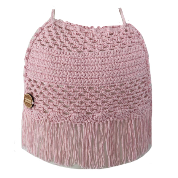 "Crochet Girls Halter Top - ""Loops"""