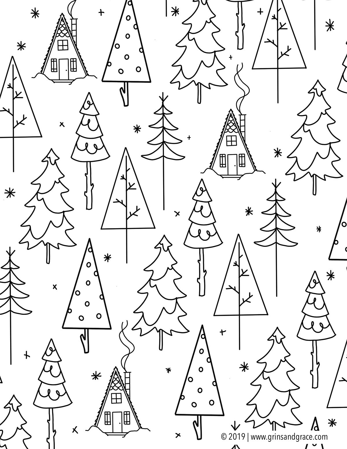 December Coloring Pages that are Perfect for Winter Break