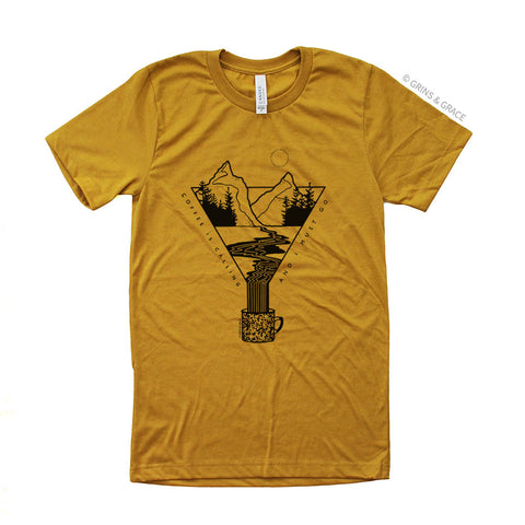 """COFFEE IS CALLING"" UNISEX T-SHIRT"
