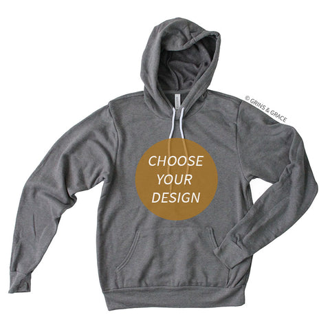 PRE-ORDER | HEATHER GREY HOODIE SWEATSHIRT - Grins & Grace